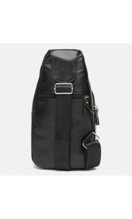 Рюкзак кожаный черный слинг Keizer k1313-black
