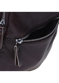 Слинг коричневый кожаный Borsa Leather K1330-brown