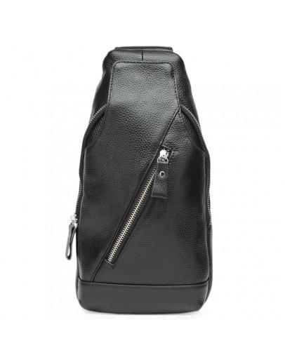 Фотография Черный слинг мужской кожаный Keizer k15029-black