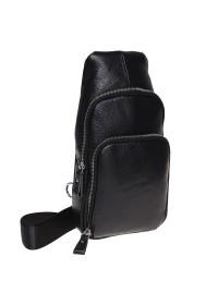 Мужской слинг - рюкзак Borsa Leather K15058-black
