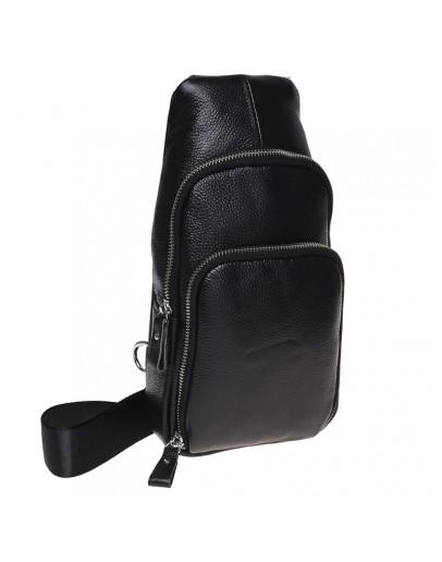 Фотография Мужской слинг - рюкзак Borsa Leather K15058-black