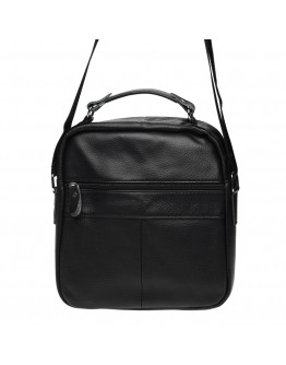 Черная мужская сумка на плечо Borsa Leather K15112-black