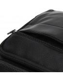 Фотография Черная мужская сумка на плечо Borsa Leather K15112-black