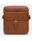 Фотография Коричневая сумка на плечо Borsa Leather K15210-brown