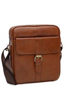 Коричневая сумка на плечо Borsa Leather K15210-brown