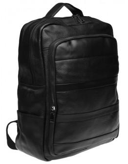 Черный мужской кожаный рюкзак Keizer K1552-black