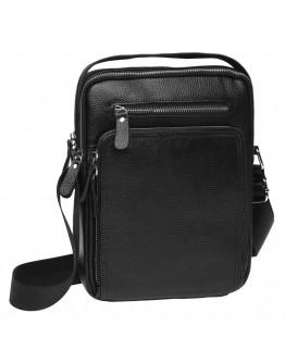 Черная кожаная сумка - барсетка Keizer K15608-black