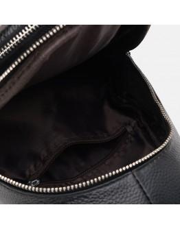 Черный мужской слинг кожаный Keizer K15609bl-black