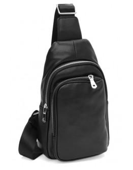 Мужская сумка на плечо кожаная слинг Ricco Grande K16040-black
