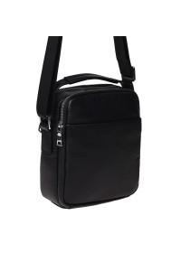 Кожаная мужская барсетка - сумка на плечо Ricco Grande K16406a-black