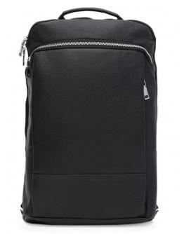 Вместительный кожаный мужской рюкзак Ricco Grande K16475bl-black
