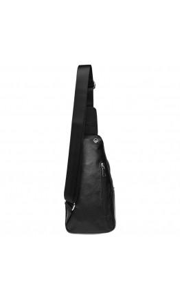 Слинг черный мужской Borsa Leather k16603-black