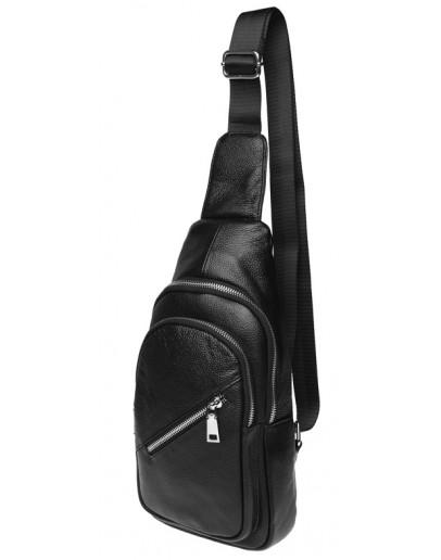 Фотография Слинг черный мужской Borsa Leather k16603-black