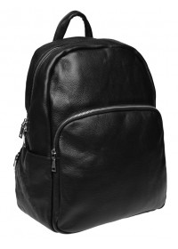 Мужской кожаный рюкзак Borsa Leather k168001-black