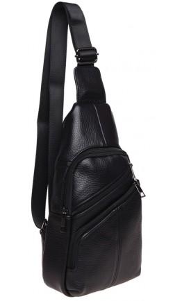Слинг мужской кожаный черный Keizer K1682-black