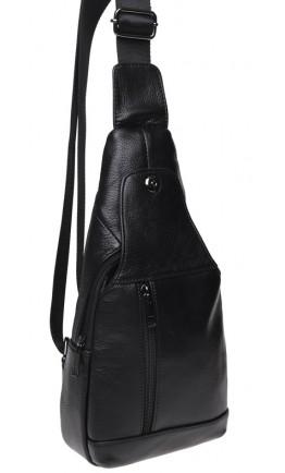 Черный мужской кожаный слинг Keizer K1683-black