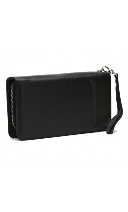 Кожаный клатч на 2 молнии Ricco Grande K17m106-black