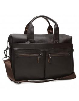 Коричневая мужская сумка для документов K18612-brown