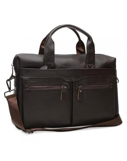 Фотография Коричневая мужская сумка для документов K18612-brown