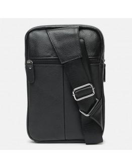 Черный мужской кожаный слинг k18696-black