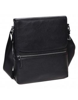 Мужская черная кожаная плечевая сумка Keizer K187015-black