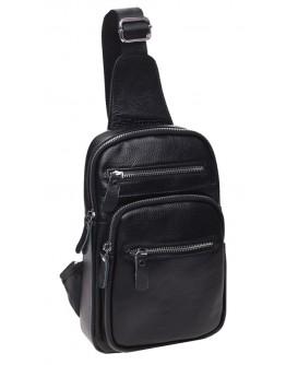 Черный мужской слинг кожаный Keizer k18791-black