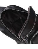 Фотография Черный мужской слинг кожаный Keizer k18791-black
