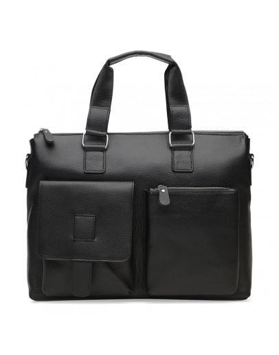 Фотография Мужская кожаная сумка Borsa Leather K18825-black