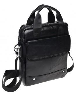Мужская черная сумка Borsa Leather K18859-black
