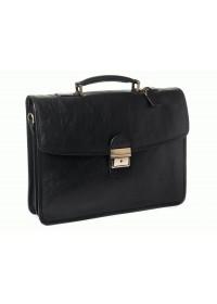 Черный мужской элитный кожаный портфель Katana k31022-1