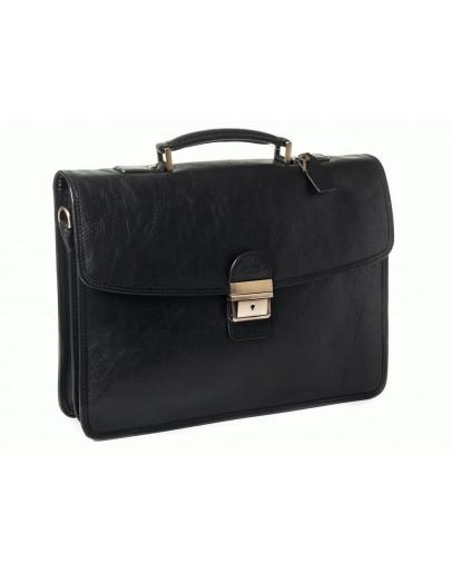 Фотография Черный мужской элитный кожаный портфель Katana k31022-1