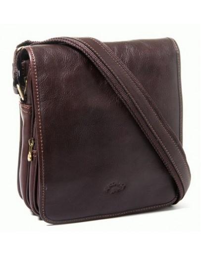 Фотография Коричневая мужская кожаная сумка на плечо Katana k32578-2