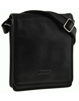 Мужская черная сумка кожаная на плечо Katana k36103-1