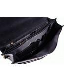 Фотография Черный кожаный мужской элегантный портфель Katana k36804-1