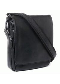 Черная кожаная плечевая мужская сумка Katana k39112-1