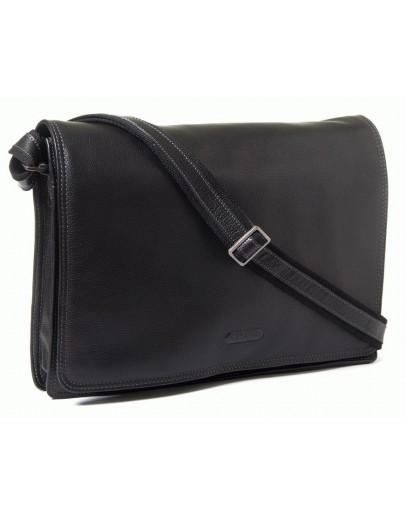 Фотография Стильная кожаная черная мужская сумка на плечо Katana k69305-1