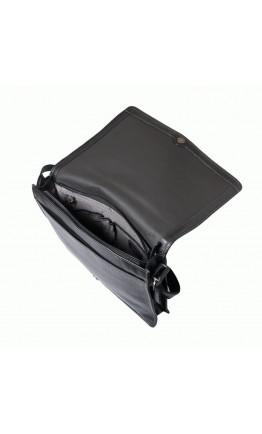 Стильная кожаная черная мужская сумка на плечо Katana k69305-1
