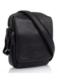 Черная кожаная сумка на плечо Katana k83602-1