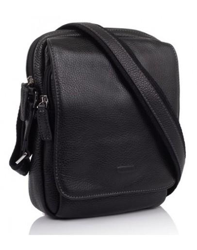 Фотография Черная кожаная сумка на плечо Katana k83602-1