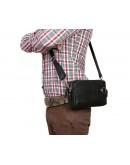 Фотография Удобная мужская кожаная сумка в руку и на плечо 7203