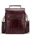 Фотография Коричневая сумка-барсетка кожаная KV0501