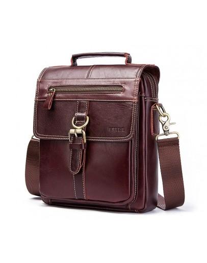 Фотография Мужская коричневая сумка на плечо - барсетка KV0502