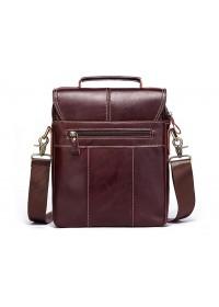 Мужская коричневая сумка на плечо - барсетка KV0502