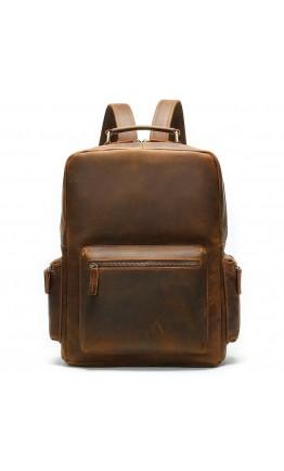 Винтажный мужской коричневый кожаный рюкзак M1847R
