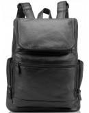 Фотография Черный кожаный мужской рюкзак M35-1017A