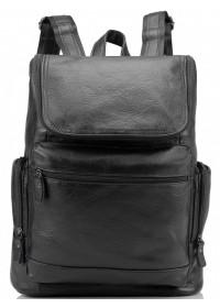Черный кожаный мужской рюкзак M35-1017A