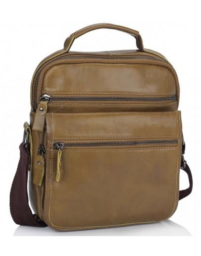 Фотография Мужская сумка - барсетка рыжего цвета Tiding Bag M35-8852LB