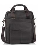 Фотография Мужская кожаная вертикальная сумка коричневая M38-8861DB