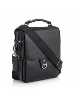 Мужская черная сумка - барсетка Vintage M7002A