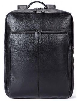 Кожаный черный мужской рюкзак M7115A